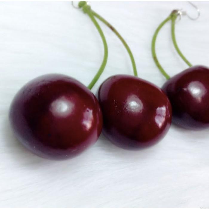 Süße Kirsche großen Ohrentropfen / Ohrclips