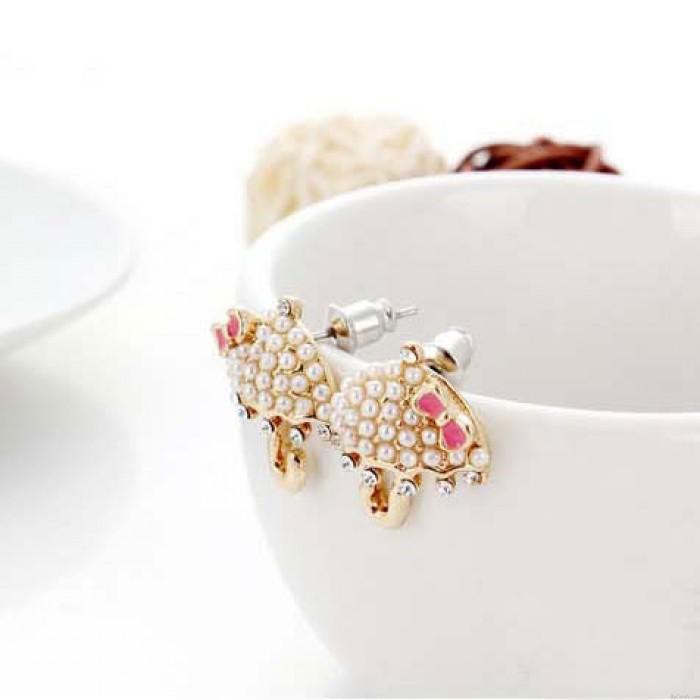 Super süß Umbrella Perlen Bolzen Ohrringe