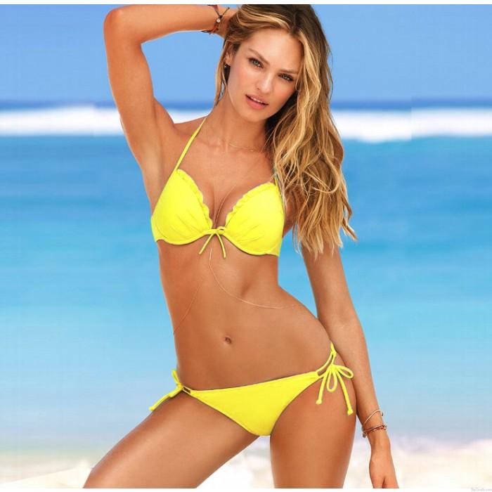 Sexy süße halter mit blume bikini badeanzug