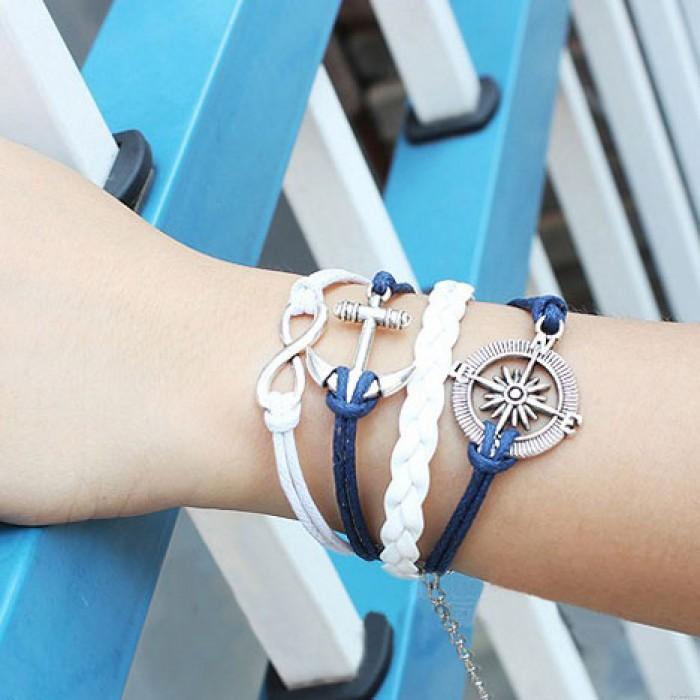 Anker Unendlichkeit Ruder Weben Armband