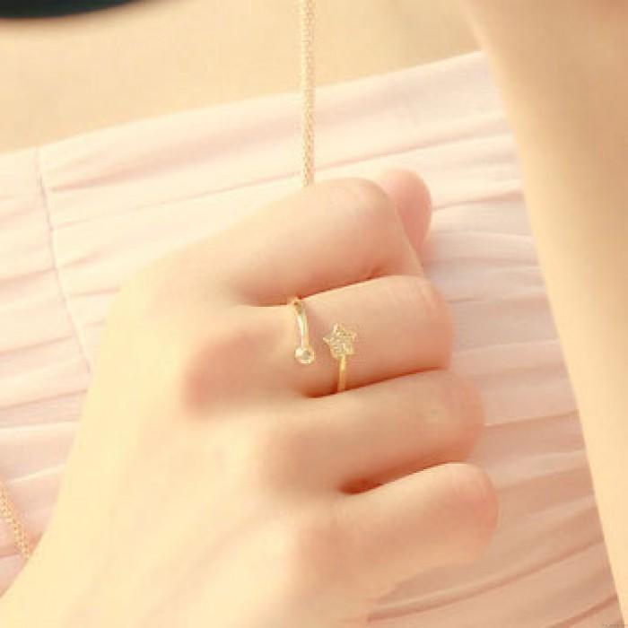 Frisch Niedlich Diamant Star Öffnung Ring