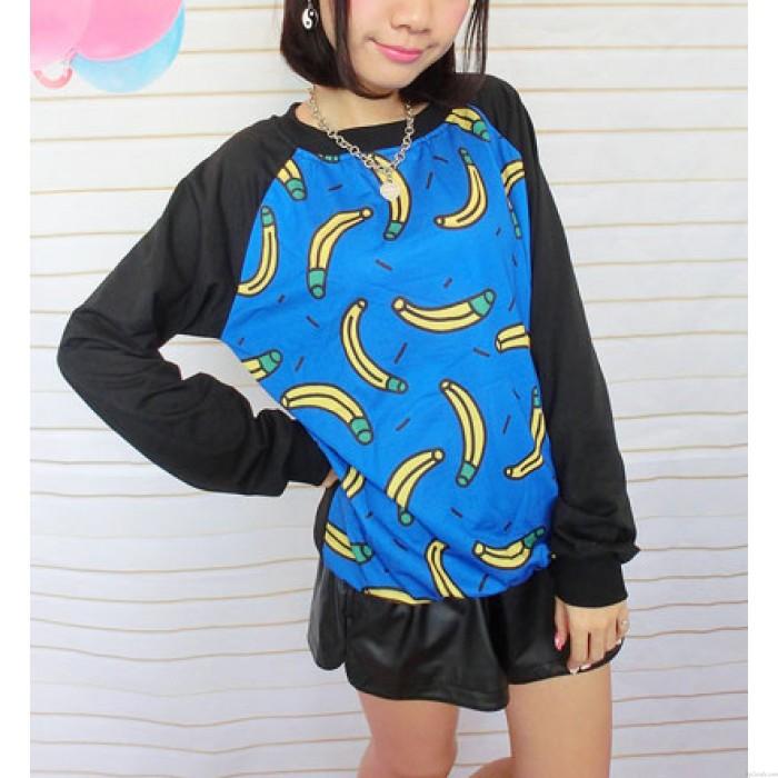 Cooler Bananen-bedruckter, dünner Pullover