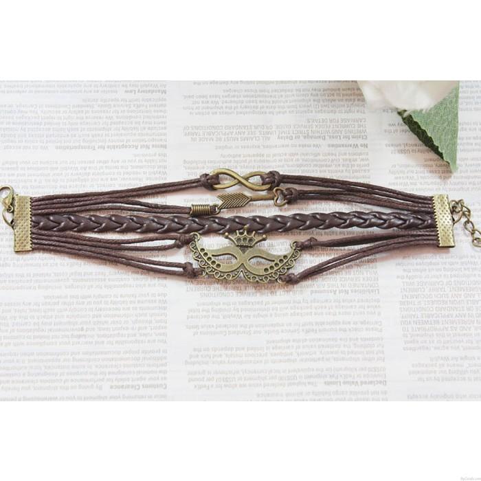 Retro Krone Pfeil Unendlichkeit Armband
