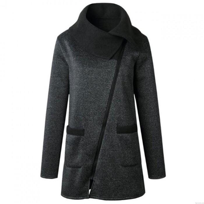 Lässige Solide Hoodies Sweatshirts Frauen Reißverschluss Tops Jacken Langen Ärmeln Mantel
