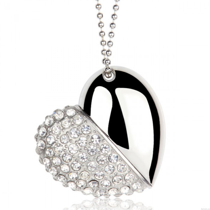 Moderne Geschenke Persönlichkeit Strass Herz U Scheibe Anhänger / Halskette