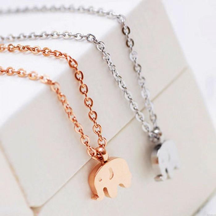 18k vergoldet Elefant Halskette / Geburtstag Geschenk