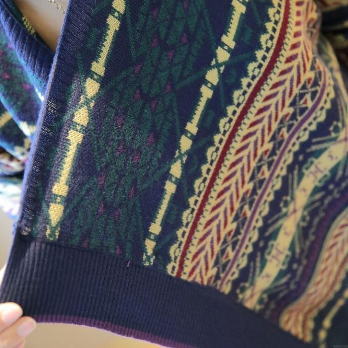 Folk unregelmäßige Strickjacke Loosen Strickwaren Mantel