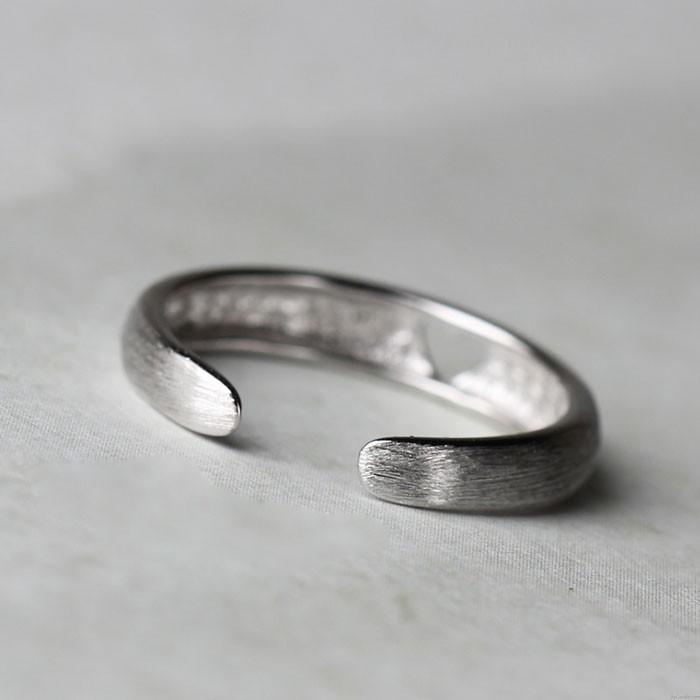 Niedlich  Hohl  Herz  Öffnung  Ringe  Silber  Schwanz  Ringe