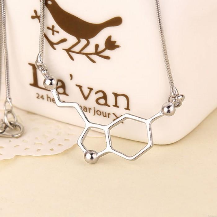 Dopamin Molecule chemische Struktur der Formel 5-HT-Studenten Halskette