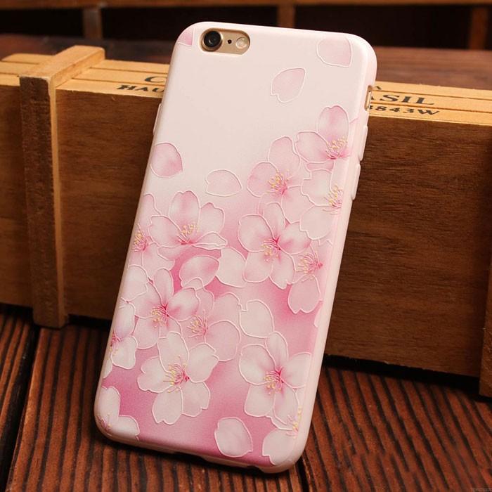 Süßigkeiten Rosa Blume Serie Relief Silikon Weich Iphone Cases 6 / 6Plus