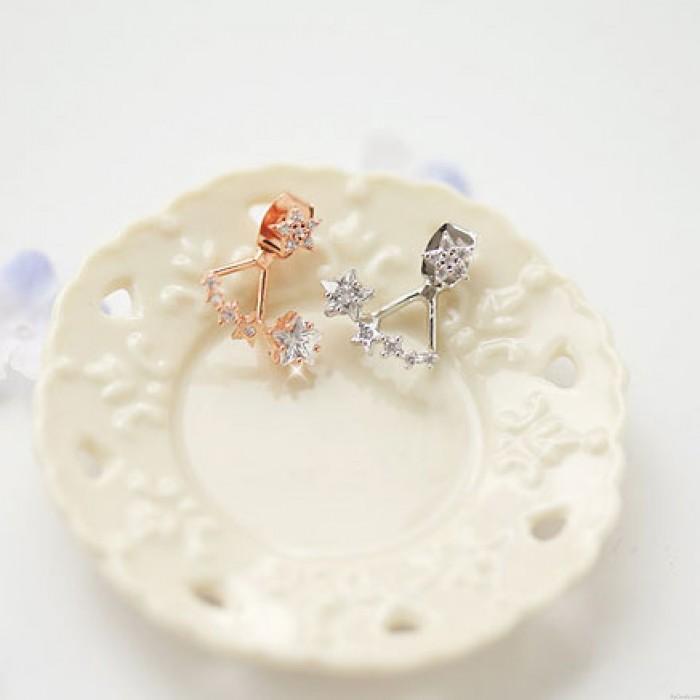 Nizza Schmucksachen Twinkle Star Diamond Silver Needle Dame Ohrringe