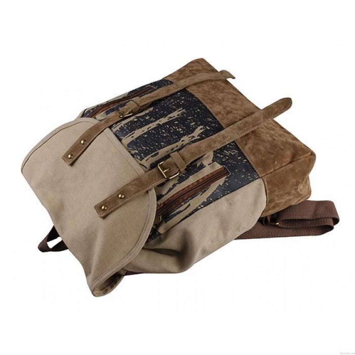 Beiläufige Art und Weise Weiblich Retro Segeltuch-Rucksack