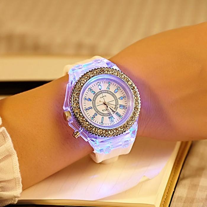Personality Strass Luminous Farbige Lichter Uhren