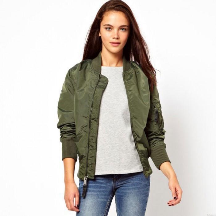 Damen Bomber Jacke Basic Jacke Biker Outwear Wintermantel
