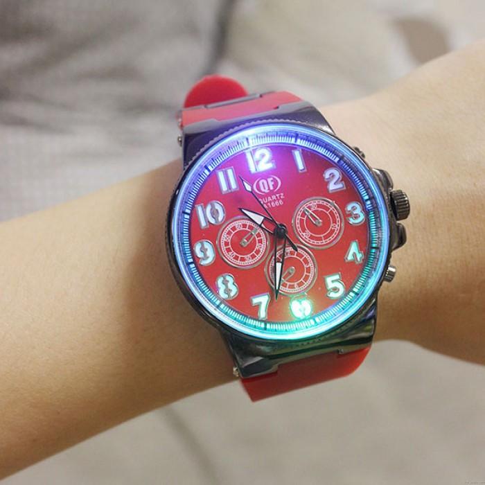 Einzigartige Luminous Silikon Studenten Quarz Uhr