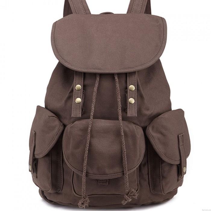 Freizeit Drei Taschen Weiterführende Schule Tasche Schüler Reise Segeltuch Rucksack