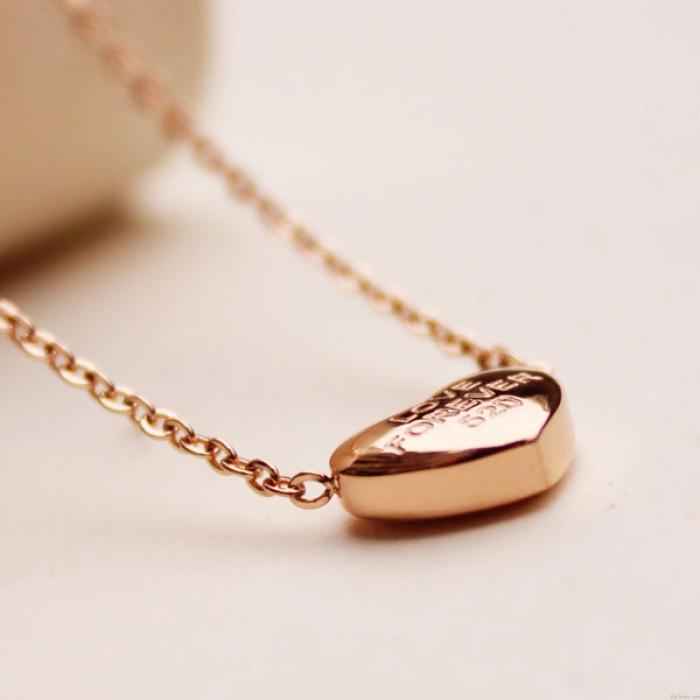 Einzigartige Herz-Anhänger Schlüssel goldene Halskette