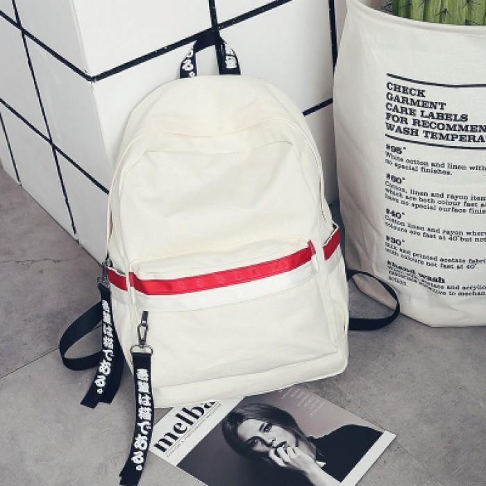 Leisure Zweifarbstreifen wasserdicht gestreift Studententasche Segeltuch Schulrucksack