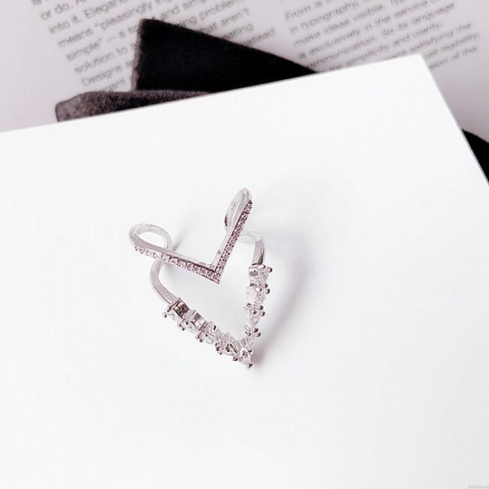 Leuchtender Niedlicher Übertreibungs-voller Diamant-justierbarer geöffneter Ring
