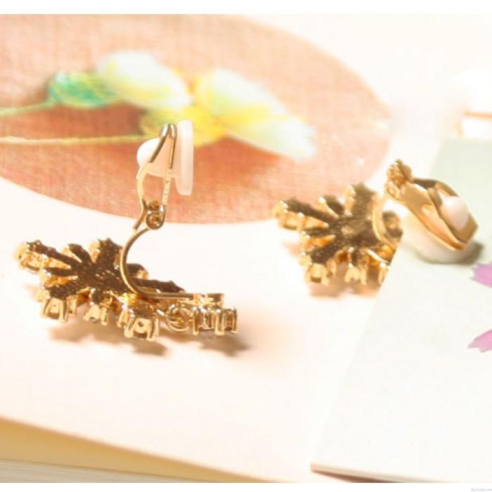 Winky Zircon Kristallschneeflocke Ohrringe