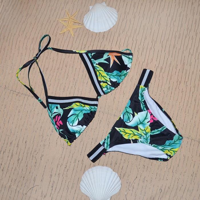 Ahorn Blätter Bikini Halfter Dreieck Badeanzüge Bikini einstellen