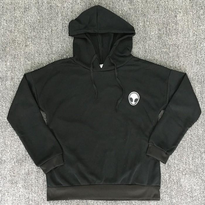 Einfache Alien Gun Printing Hoodie Pullover mit langen Ärmeln Frauen Pullover