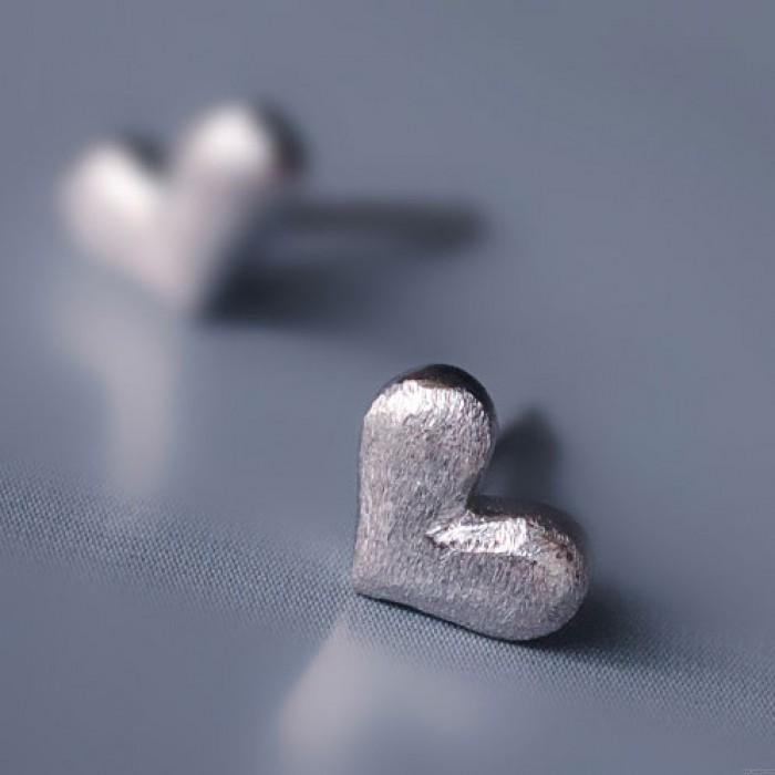 Schön Herz Anti-Allergie- Studs Silber Ohrring