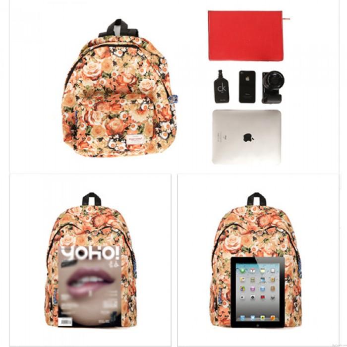 Frische Romantische Blumenmuster Spielraum-Rucksack Schultasche