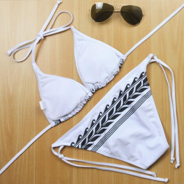 Weizen Druck Badeanzug Pfeil Bikini-gesetzte Badebekleidung