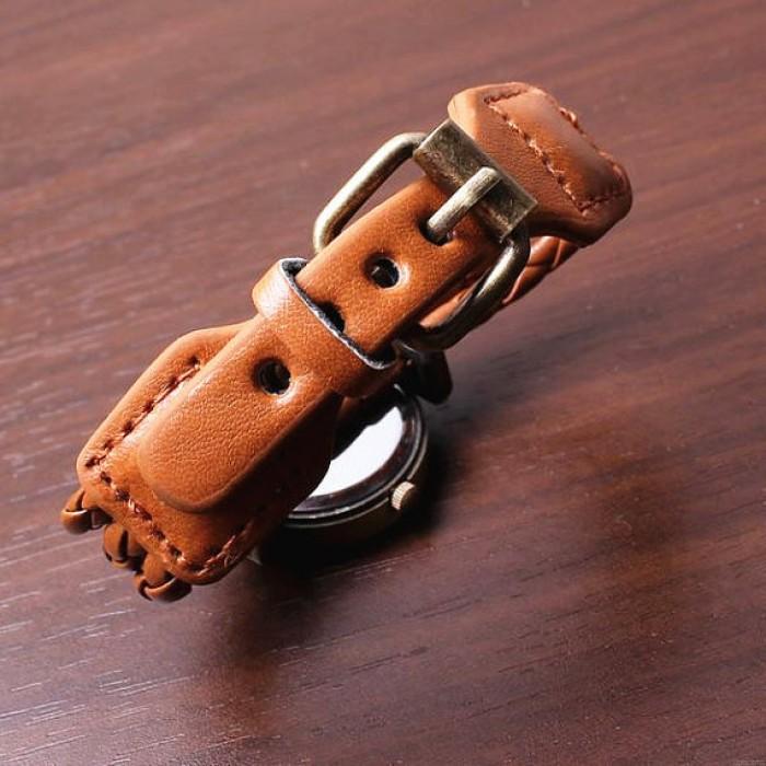 Dünne Streifen Wrap Strap Armbanduhr aus Leder