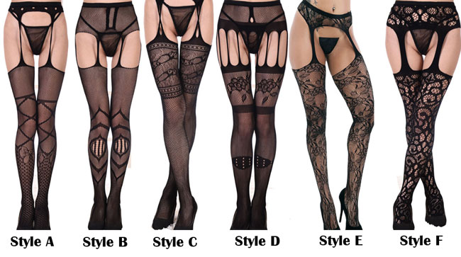 Sexy Net Stockings Lace Perspective Sling Women's Lingerie