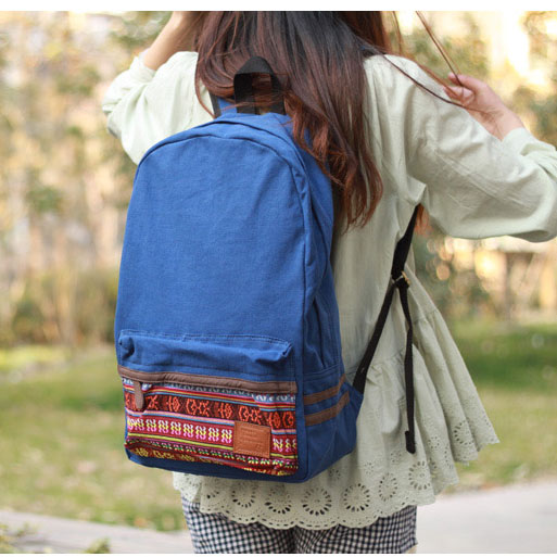 Fresh National Styel Canvas Shoulder Bags