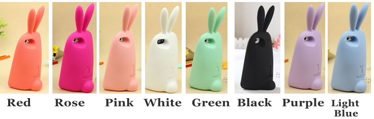 Cute Rabbit Storage Silicone Case For Iphone 4/4S/5/6