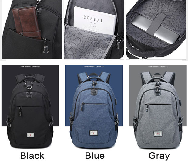 Simple Junior High School Bag Travel Bag Business Large Computer Bag Sport Backpack