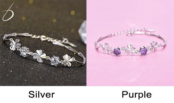 Flower Silver Women Bracelet