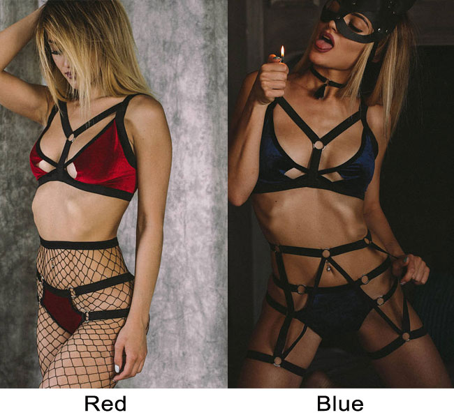 Sexy Role Playing Bundle Flirting Female Prisoners SM Cosplay Intimate Lingerie