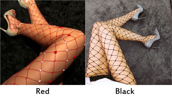 Sexy Diamond Hollow Grid Leggings Fishing Net Lingerie Stockings