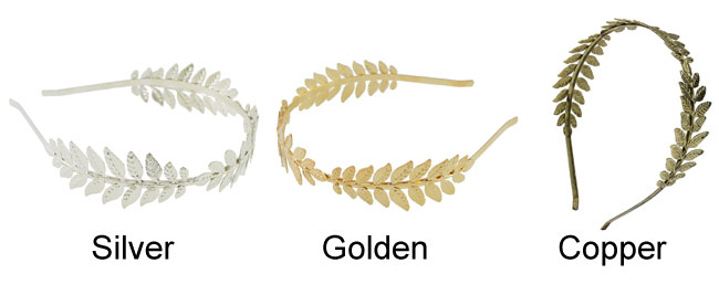 Fashion Leaf Headband Leaves Alloy Hair Clip Hair Accessories