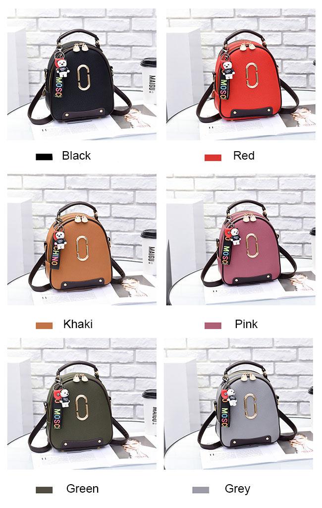 Fresh PU Leather Small Lady Shoulder Bag Handbag Backpack