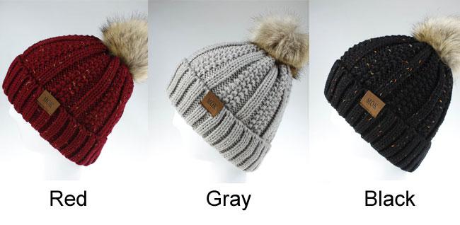 New Hairball Wool Warm Hair Accessories Knit Hairbands Women Winter Hat