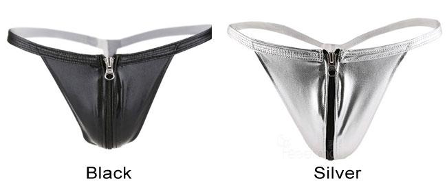 Sexy Locomotive Man Underwear Zipper Open T Pants Male Lingerie