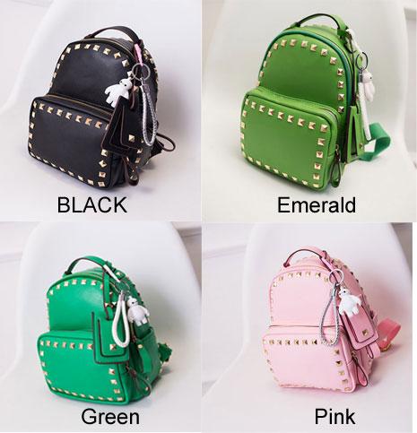5473564e6ed4 Cute Pink Baymax Girl Rucksack Rivet Glossy Mini Backpacks