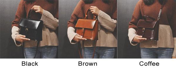 Leisure Single Buckle College Girl Handbag Shoulder Bag