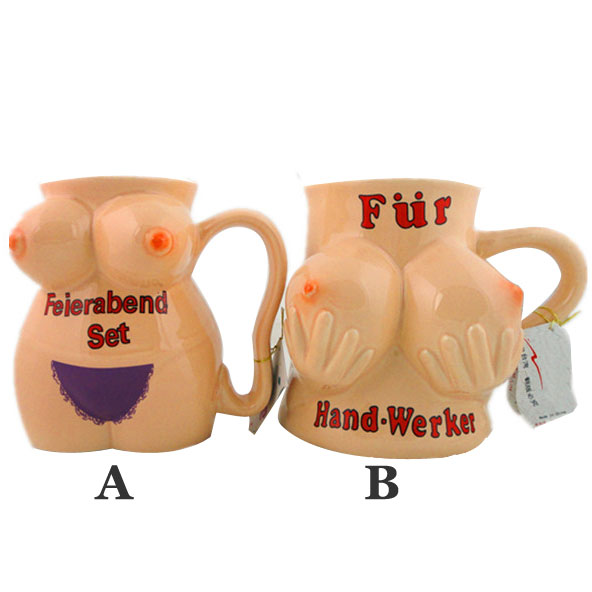 Funny Creative Big Tits Hand-painted Ceramic Cup