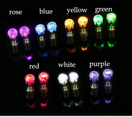 Creative Flash Led Light Earrings