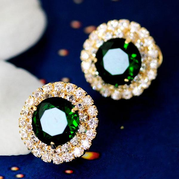 Sparkling Big Rhinestone Crystal Ear Studs