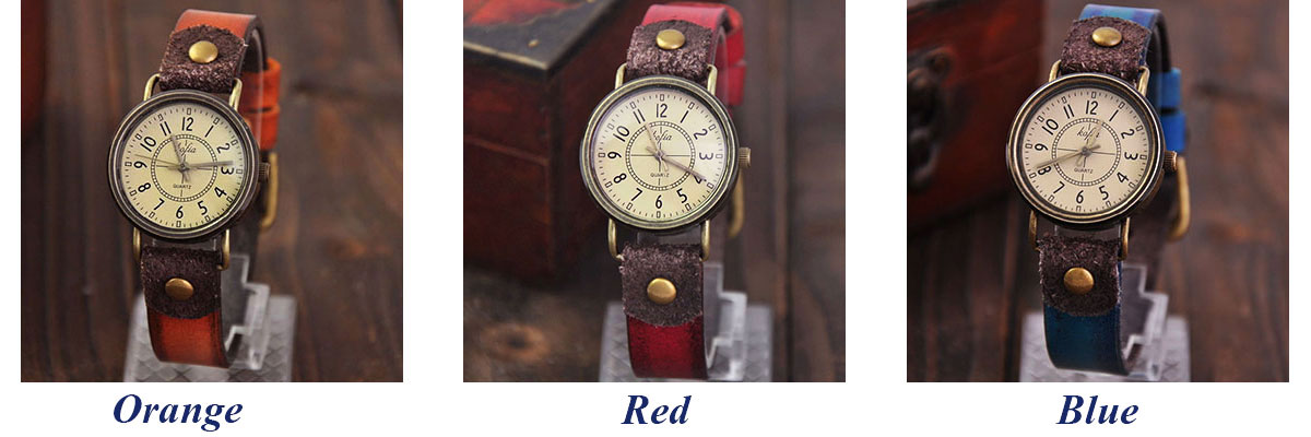 Retro Classical Quartz Cortical Leather Women Waterproof Wrist Watch
