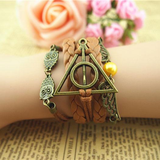 Deathly Hallows Swings Owl Infinity Bracelet