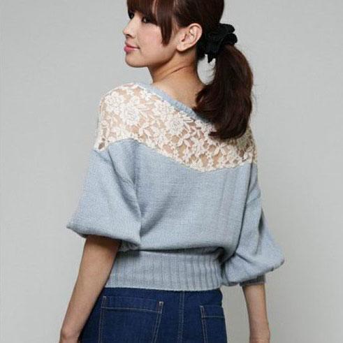 Sweet Hollow Crochet Lace Sweater