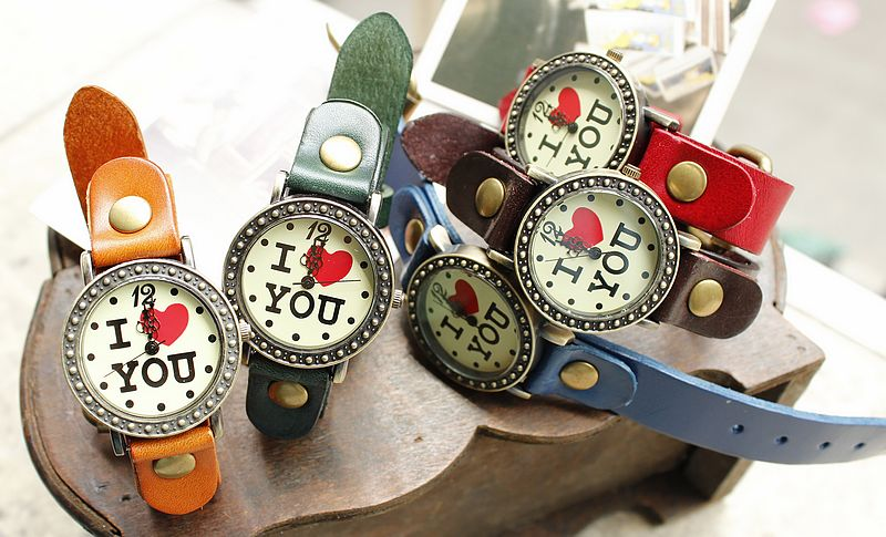 Retro I love You Watches